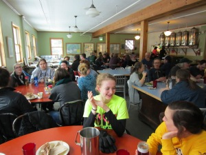Holden's dining hall - every meal is eaten in community